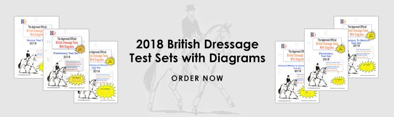 2018 British Dressage Test Sets with Diagrams